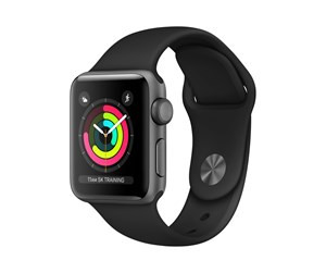 Apple Watch Series 3 38 mm (grå sportsrem)