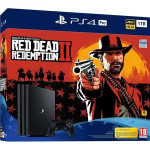 PLAYSTATION 4 PRO 1 TB RED DEAD REDEMPTION 2 BUNDLE